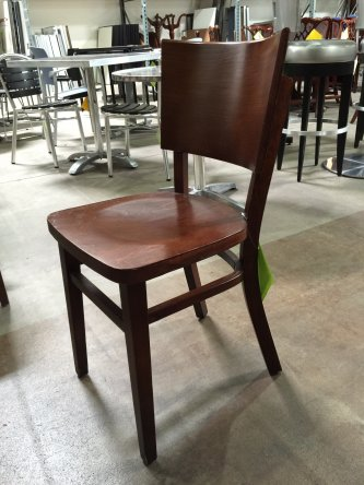 & Wood Cafeteria Chair