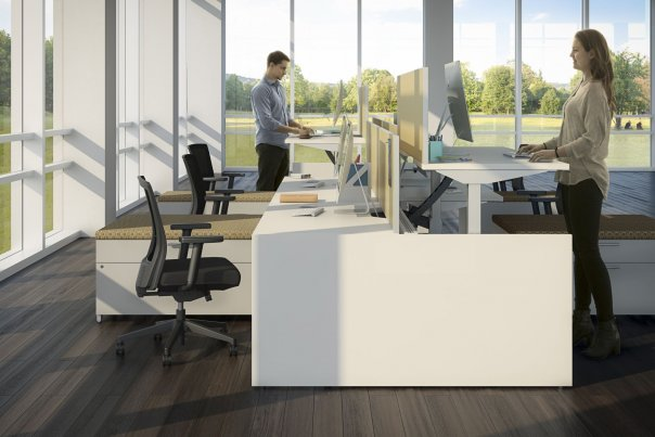 Height Adjustable Benching Cubicles
