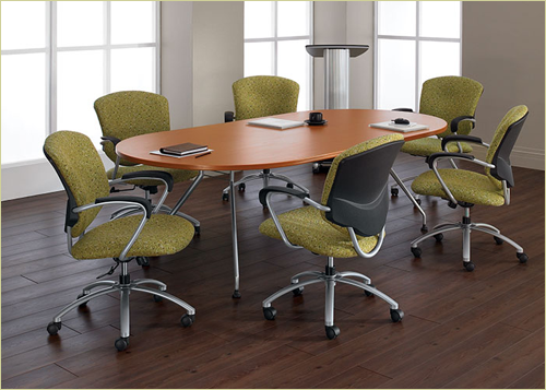 Global Alba Conference Tables - Elliptical conference table
